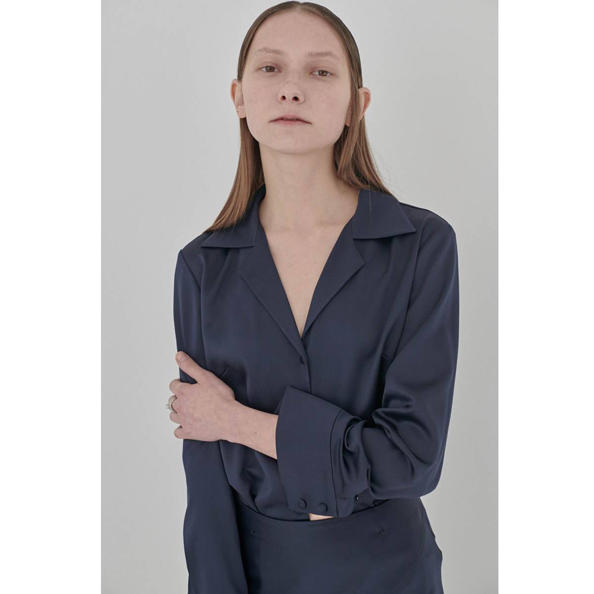 NINE ZERO BLOUSE | dark navy | 4.3 발송예정