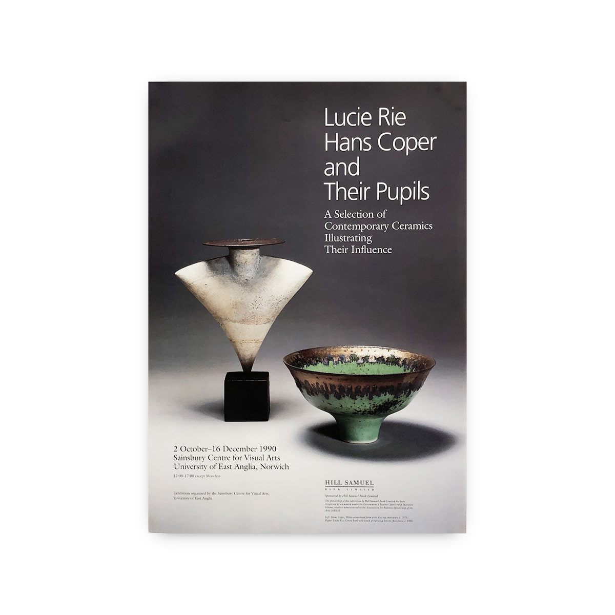 Lucie Rie, Hans Coper & Their pupils 1990 Art Exhibition Poster